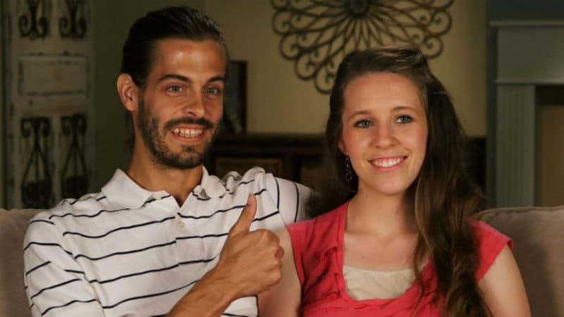Derick Dillard and Jill Duggar in a Counting On confessional