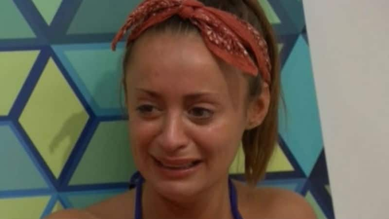 Kaitlyn crying in the Big Brother house