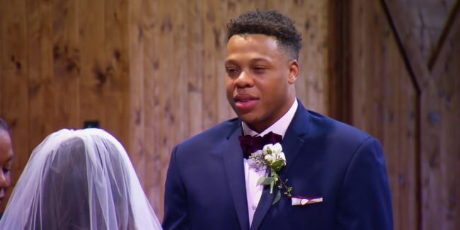 Tristan Thompson at the alter on Married at First Sight
