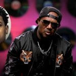Corey 'C-Murder' Miller inset on a photo of Master P in the Growing Up Hip Hop confessional