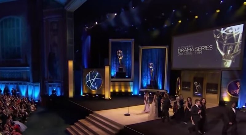 An empty stage at the 45th Annual Daytime Emmy Awards