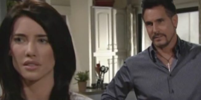 Steffy and Bill seen on The Bold and the Beautiful