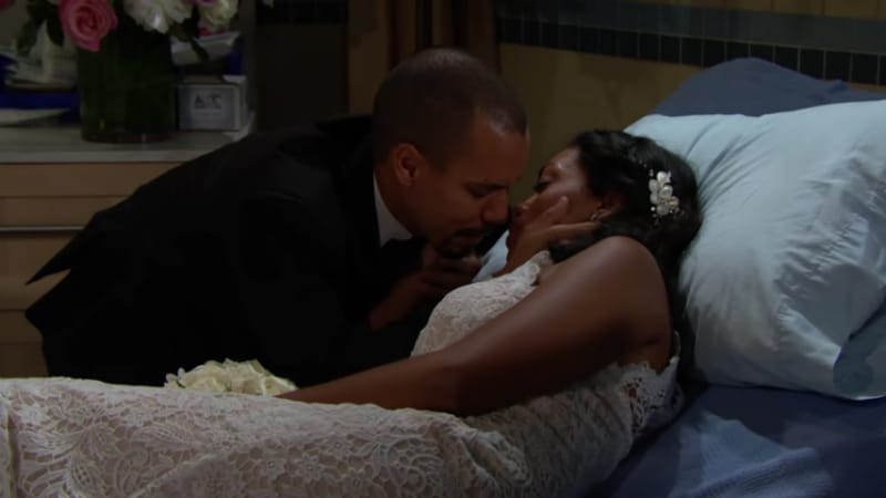 Devon saying goodbye to Hillary on The Young and the Restless