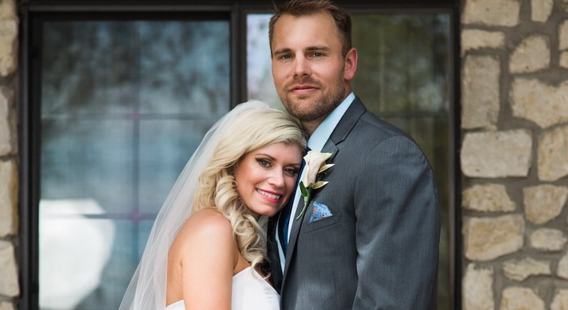 Amber Martorana and Dave Flaherty after their Married at First Sight wedding