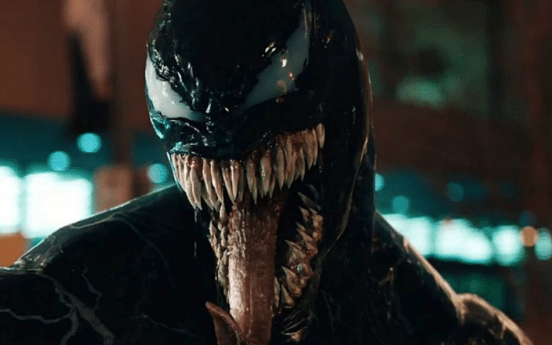A screenshot of Venom from the trailer