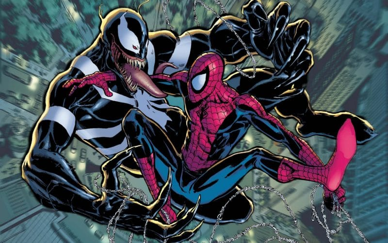 Venom and Spider-Man fight