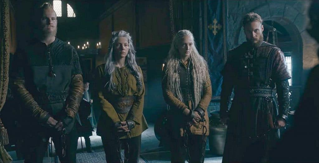 Bjorn, Lagertha, Torvi and Ubbe are brought to England for protection from ivar until a plan is enacted