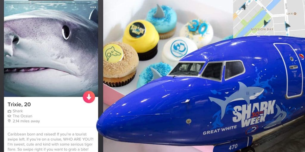 Look at all the cool partners for Shark Week- send us those cupcakes!