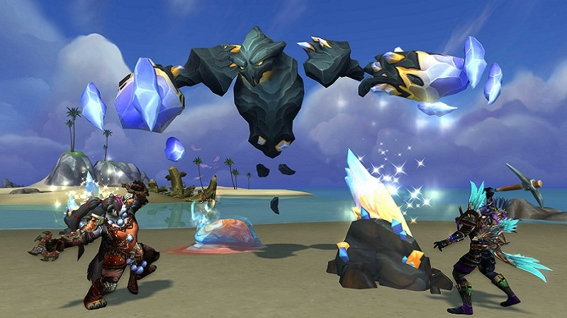 Elemental monsters offer a challenge in World of Warcraft: Battle for Azeroth