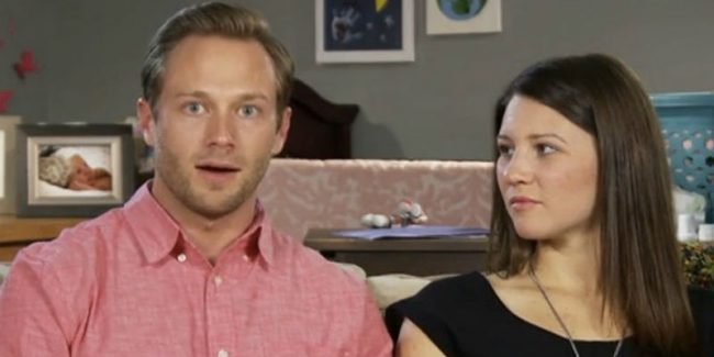 Adam and Danielle Busby in a confessional for OutDaughtered