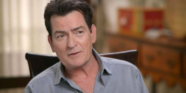 Charlie Sheen during a GMA interview