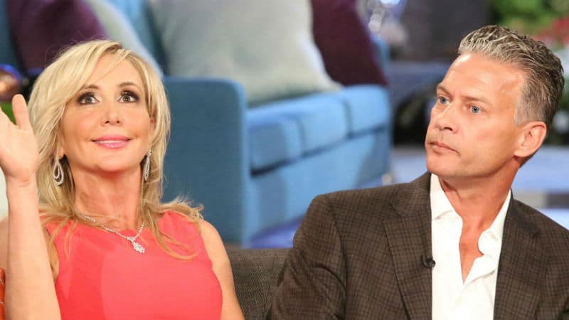 Shannon and David Beador during a RHOC reunion