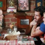 Claire eating with Shawn and Belle on Days of our Lives