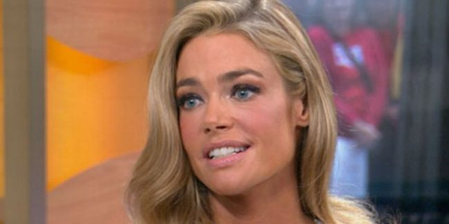 Denise Richards during a GMA interview