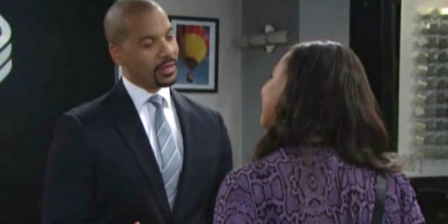 Emma talking to Justin on The Bold and the Beautiful