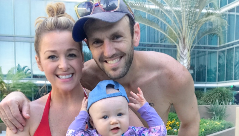 Jamie Otis and Doug Hehner with their daughter Henley