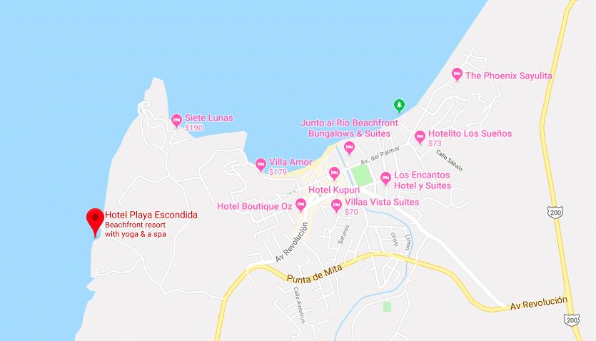 Playa Escondida Resort map 2