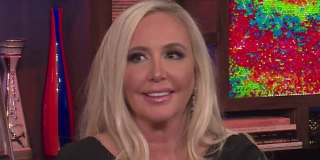 Shannon Beador sitting in the Bravo clubhouse on Watch What Happens Live