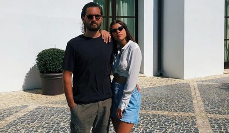 Scott Disick poses alongside Sofia Richie