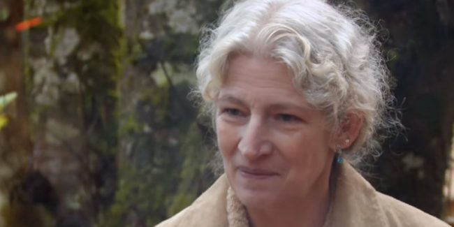 Ami Brown shown in a video clip from Alaskan Bush People