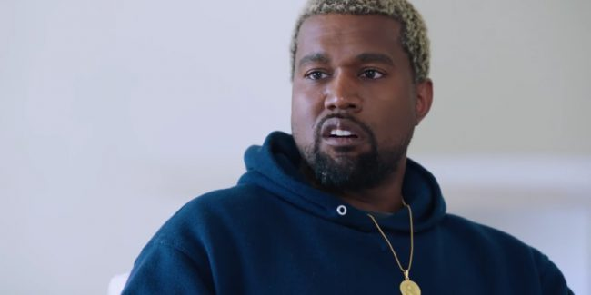 Kanye West during interview with Charlamagne tha God