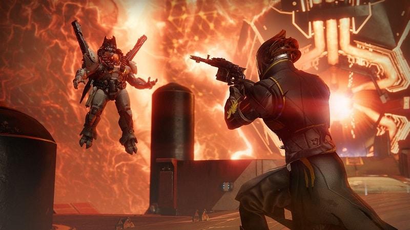 Battle against Ghaul on Destiny 2