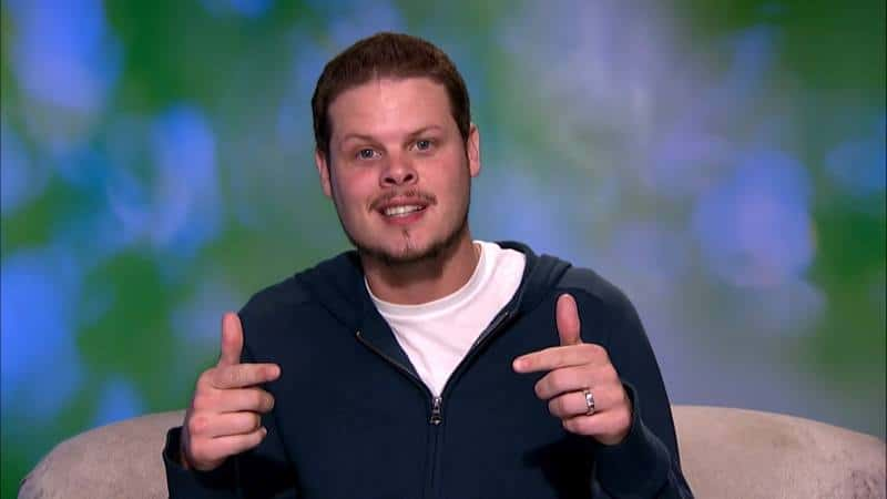 Derrick Levasseur in the Big Brother diary room