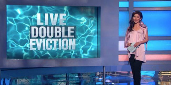 Julie Chen announcing the live double eviction on Big Brother