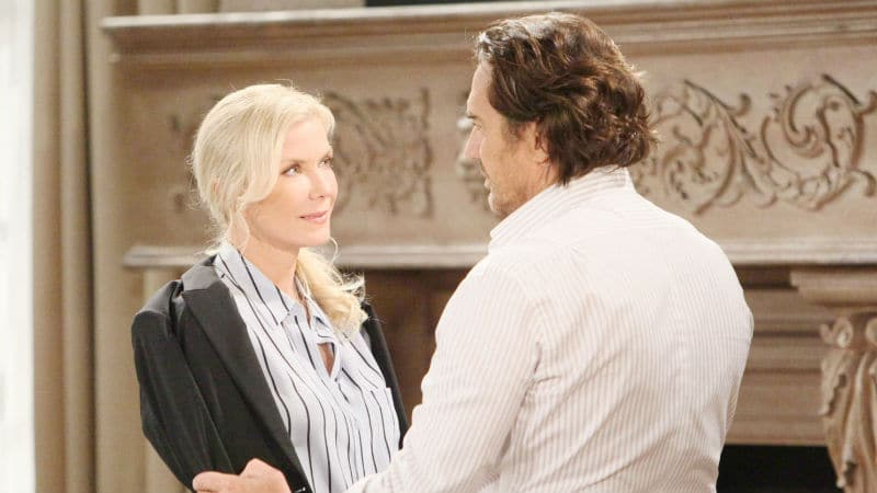Katherine Kelly Lang and Thorsten Kaye as Brooke and Ridge on The Bold and the Beautiful