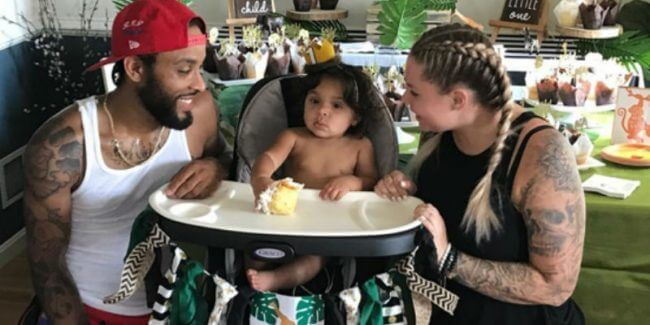 Chris Lopez with son, Lux and Kailyn Lowry