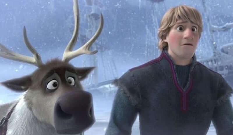 Frozen 2: Kristoff and his reindeer Sven