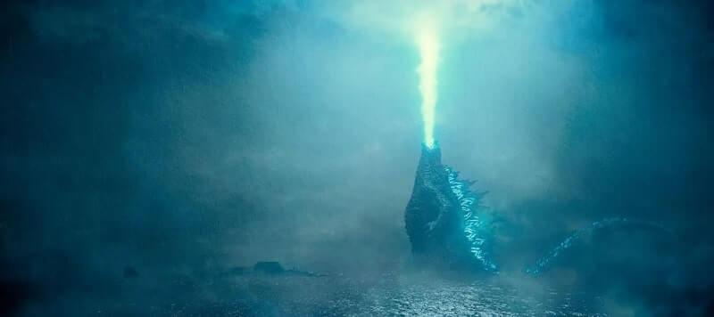 Godzilla unleashes atomic breath skyward