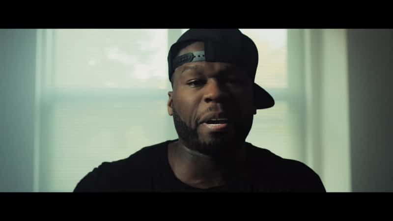 50 Cent in the music video for 9 shots