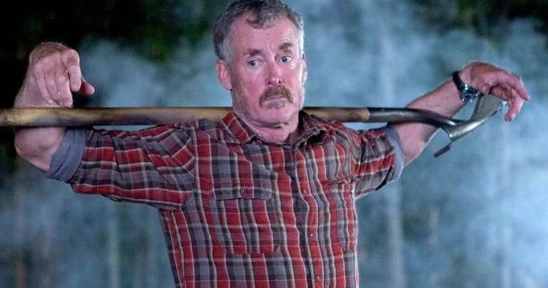 In Stan Against Evil, McGinley is the titular Stan who is coping with loss amidst mayhem in his town. Pic credit: IFC