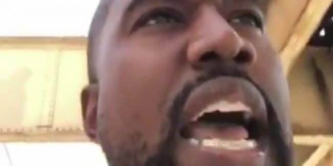 Kanye West still from a series of Instagram videos shared by Kanye West