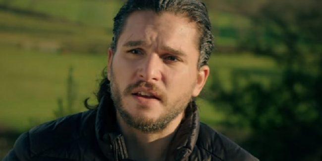 Kit Harington (Jon Snow) during Game of Thrones interview