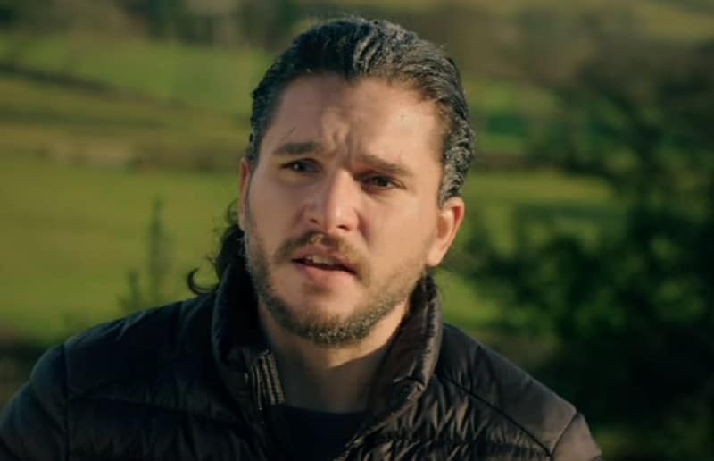 Kit Harington (Jon Snow) during Game of Thrones interview