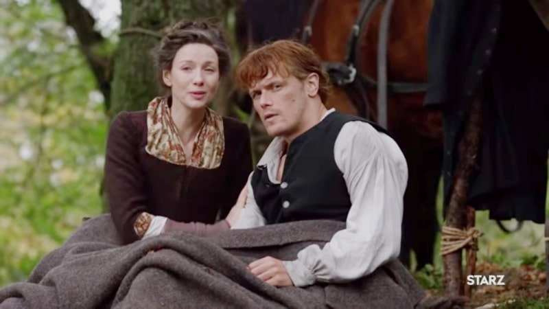 Claire and Jamie from Outlander on Starz