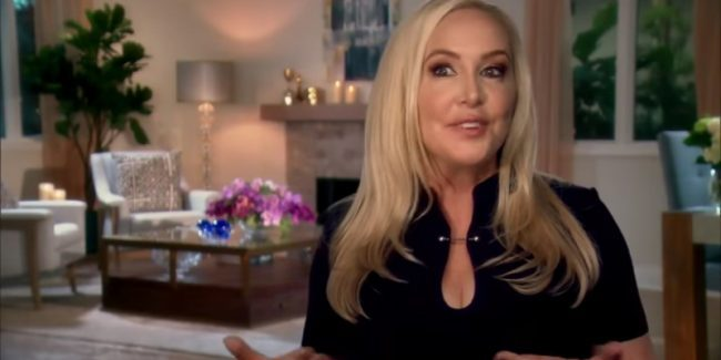 Shannon Beador in the Real Housewives of Orange County confessional