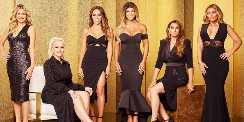 In order, the RHONJ season 9 cast is Jennifer Goldschneider, Margaret Josephs, Melissa Gorga, Jennifer Aydin and Dolores Catania