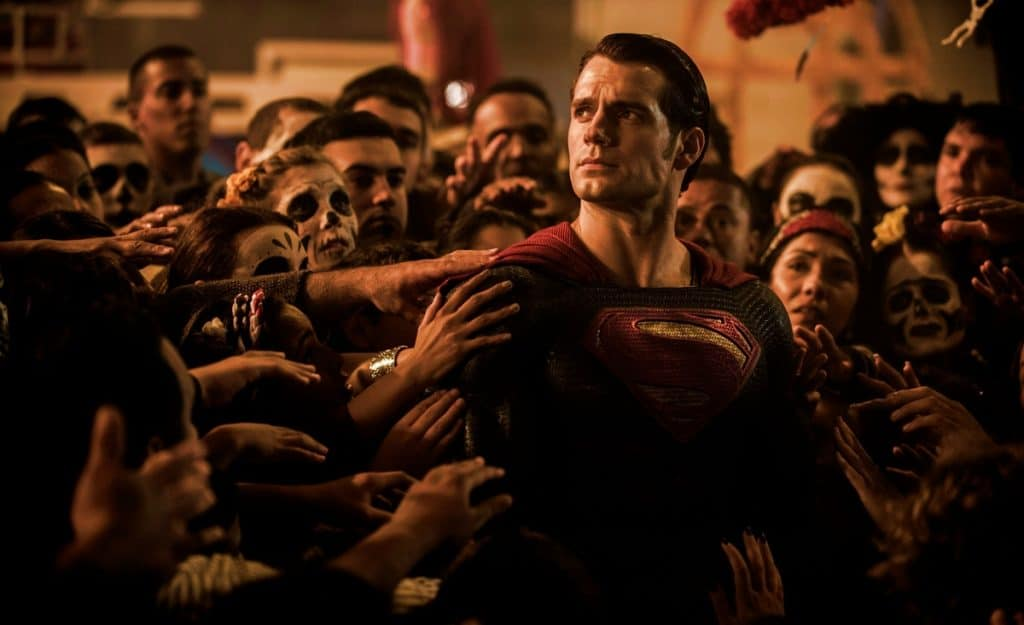 Superman in crowd