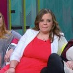 Maci Bookout, Catelynn Lowell, and Amber Portwood during a Teen Mom Og reunion