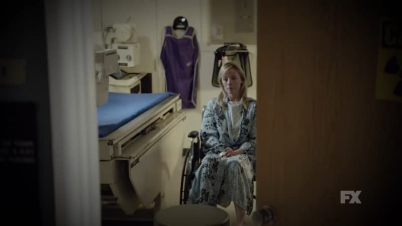 Still Image: Mayans M.C. Season 1 Ep. 5 Uch/Opossum Preview. Emily is treated for her injuries as EZ leaves the hospital after speaking with her. Pic Credit: FX