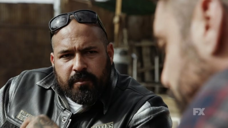 Still Image: Mayans M.C. Season 1 Ep. 5 Uch/Opossum Preview. Gilly questions Angel's decision to align with Cole. Pic Credit: FX