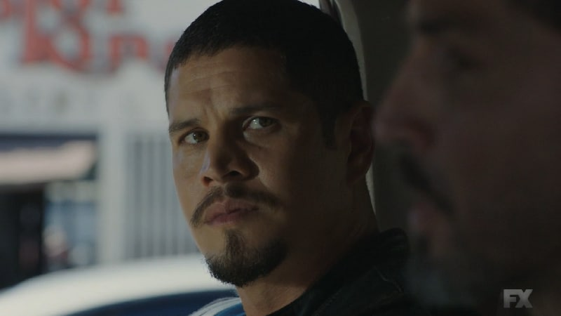 Still Image from Mayans M.C. Murciélago/Zotz. EZ refuses to use Emily to take down the cartel and tells Kevin to pull his deal. Pic credit: FX