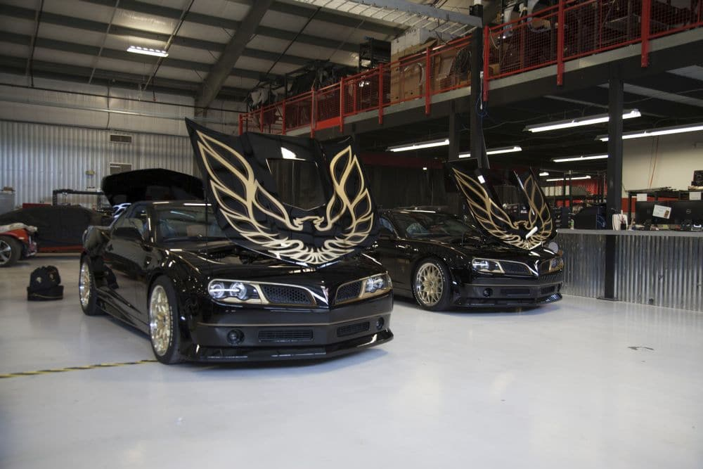 Two 2017 Bandit's with their hoods popped waiting on inspection at Trans Am Worldwide. Pic credit: Discovery
