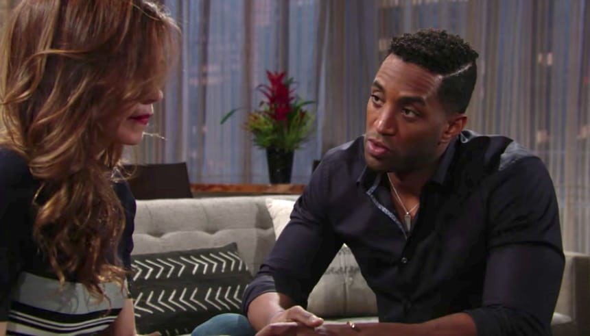 Nate and Victoria on The Young and the Restless