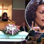 Whitney Houston singing at Bobby Brown's mother's funeral