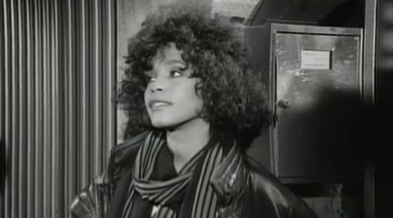 Whitney Houston in the video for 1987 hit I Wanna Dance With Somebody (Who Loves Me)