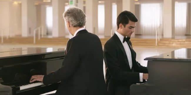Andrea Bocelli and son Matteo